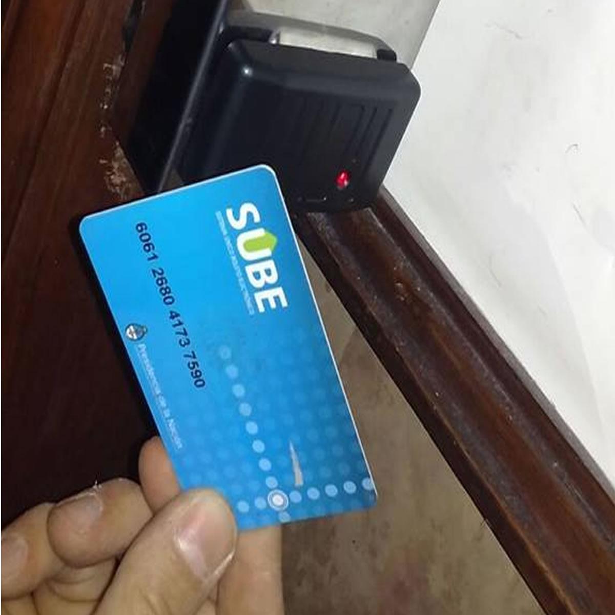 Controles de acceso con tarjeta SUBE
